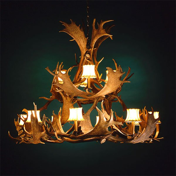 Oval Antler Chandeliers